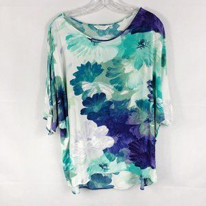 Jams World 50 Years   'Blooming' Cold Shoulder Top